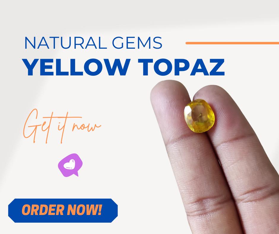 Yellow Topaz For Men